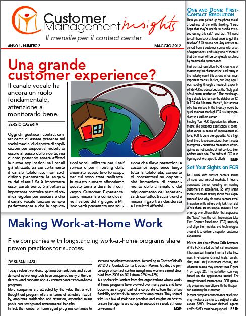 Maggio 2012 – Una grande customer experience?
