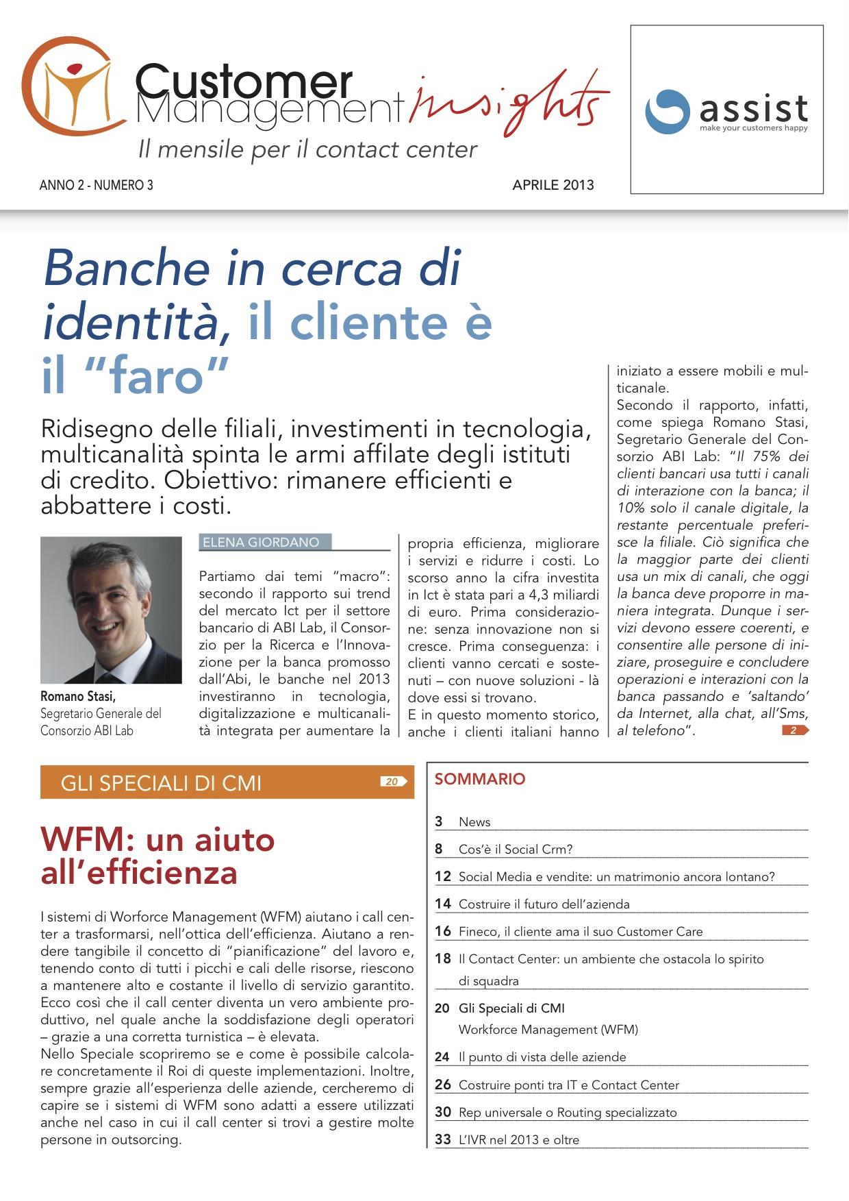 """Aprile 2013 – Banche in cerca di identità, il cliente è il """"faro"""""""