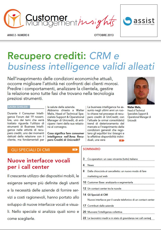 Ottobre 2013 – CRM e Business Intelligence alleati