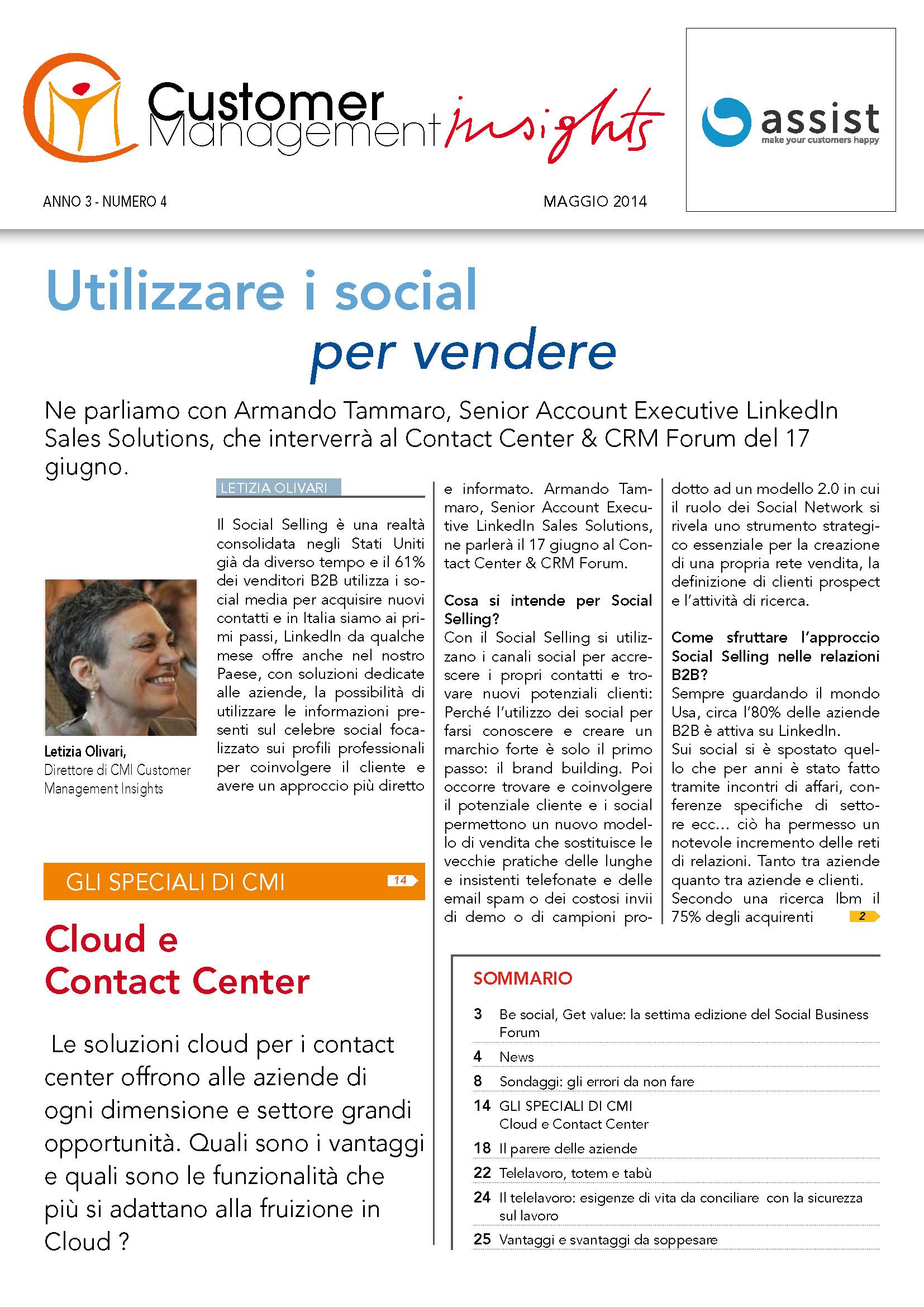Maggio 2014 – Cloud e Contact Center