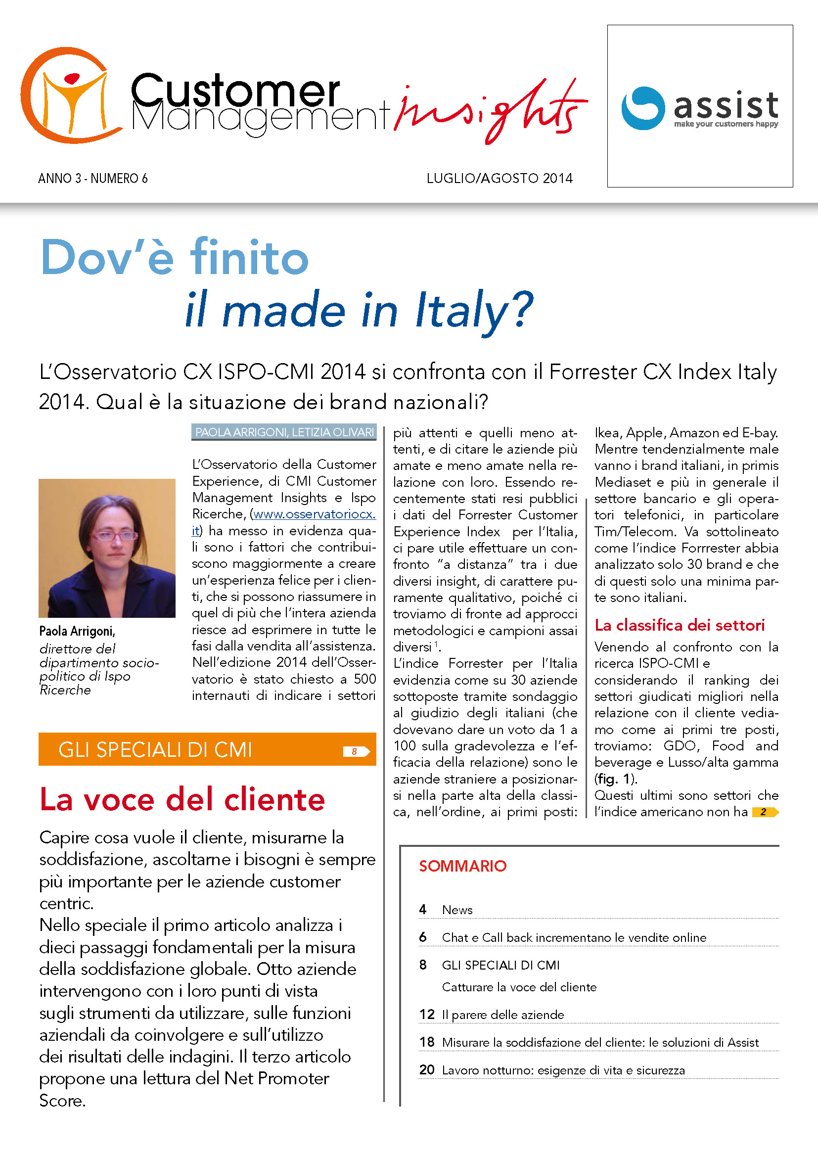 Luglio 2014 – La voce del cliente