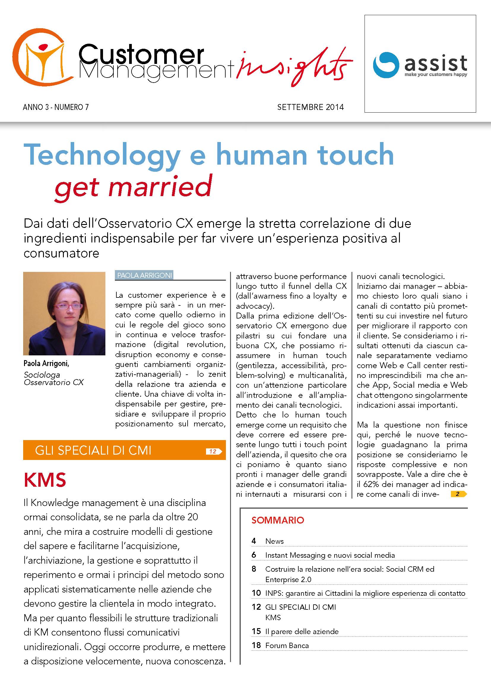 Settembre 2014 – Social Knowledge Management