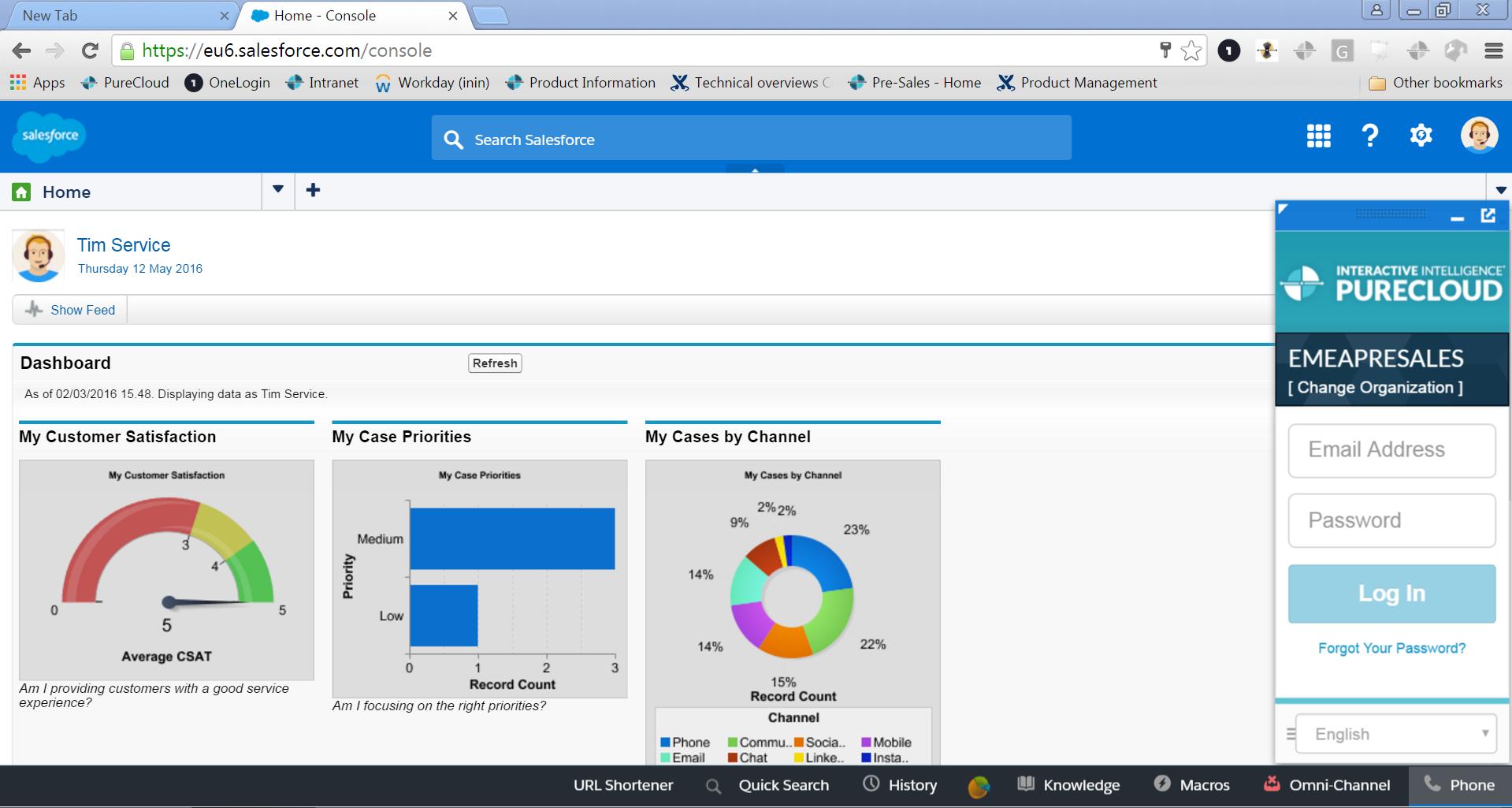 Interactive Intelligence presenta PureCloud Engage per Salesforce