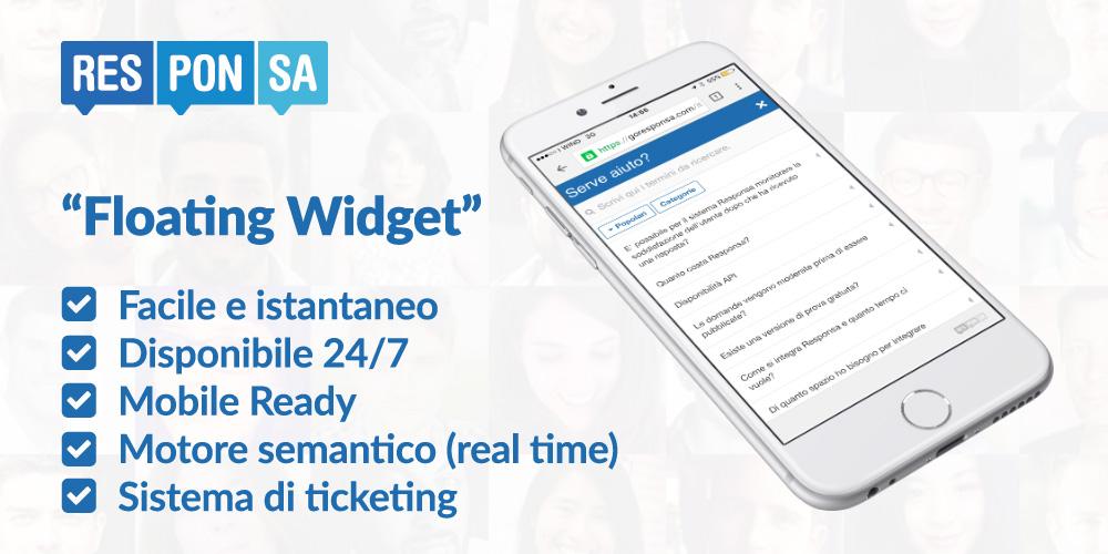 Customer Care mobile ready con il Floating Widget di Responsa