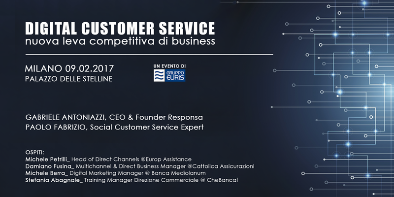 Digital Customer Service: a febbraio l'evento Responsa e Gruppo Euris