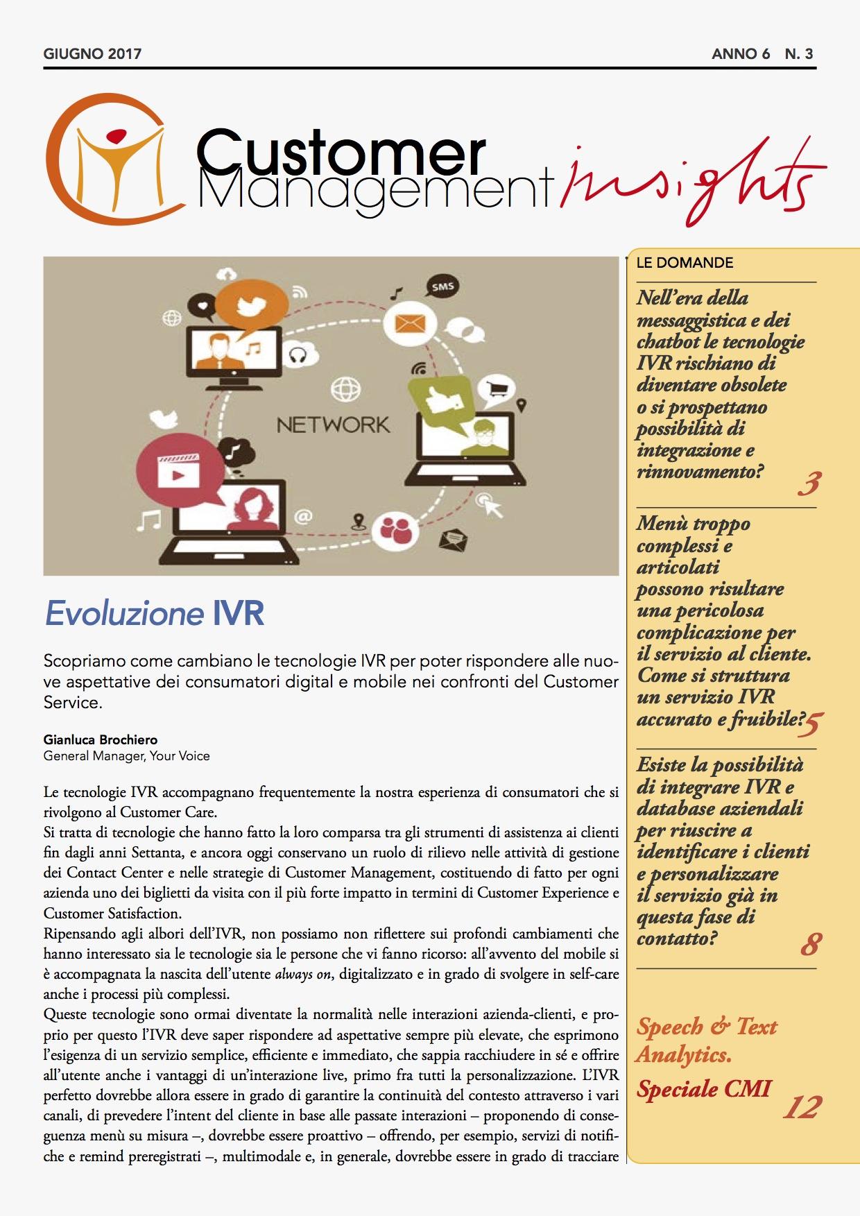 Doppio speciale: Evoluzione IVR e Speech & Text Analytics – CMI anno 6 n. 3