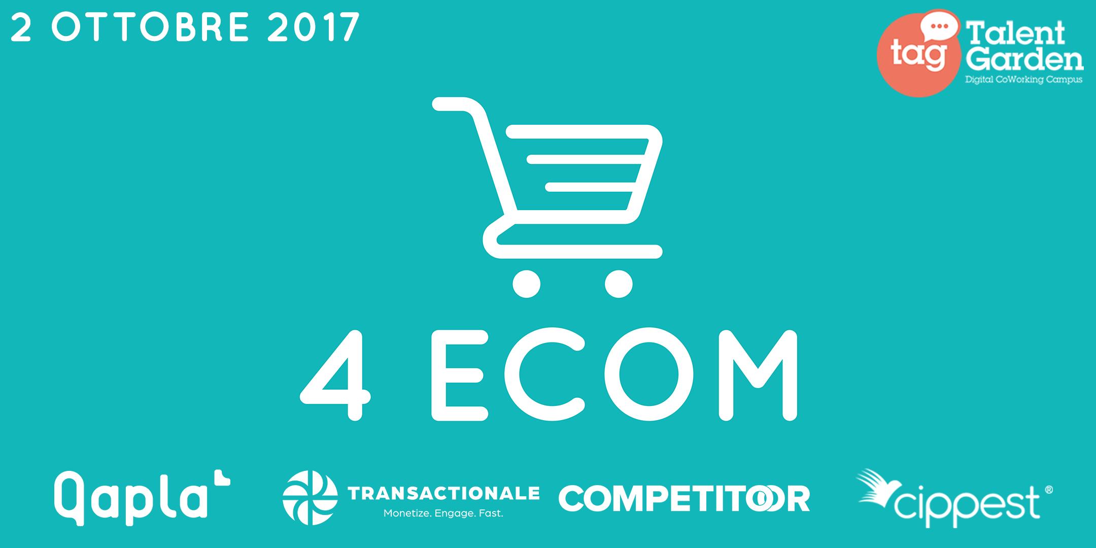Novità autunnale per l'eCommerce: in arrivo la prima edizione di 4eCom