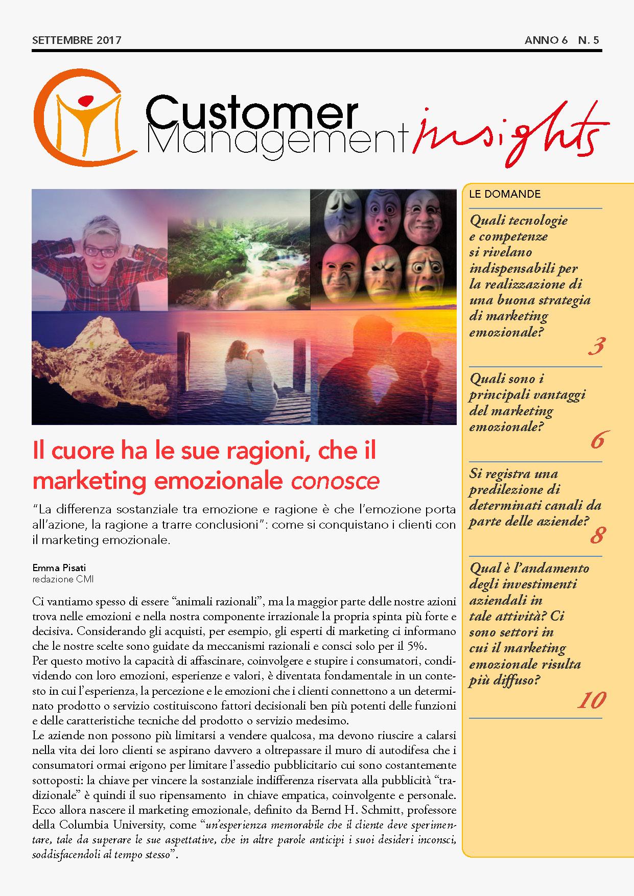 Marketing emozionale – CMI anno 6 n. 5