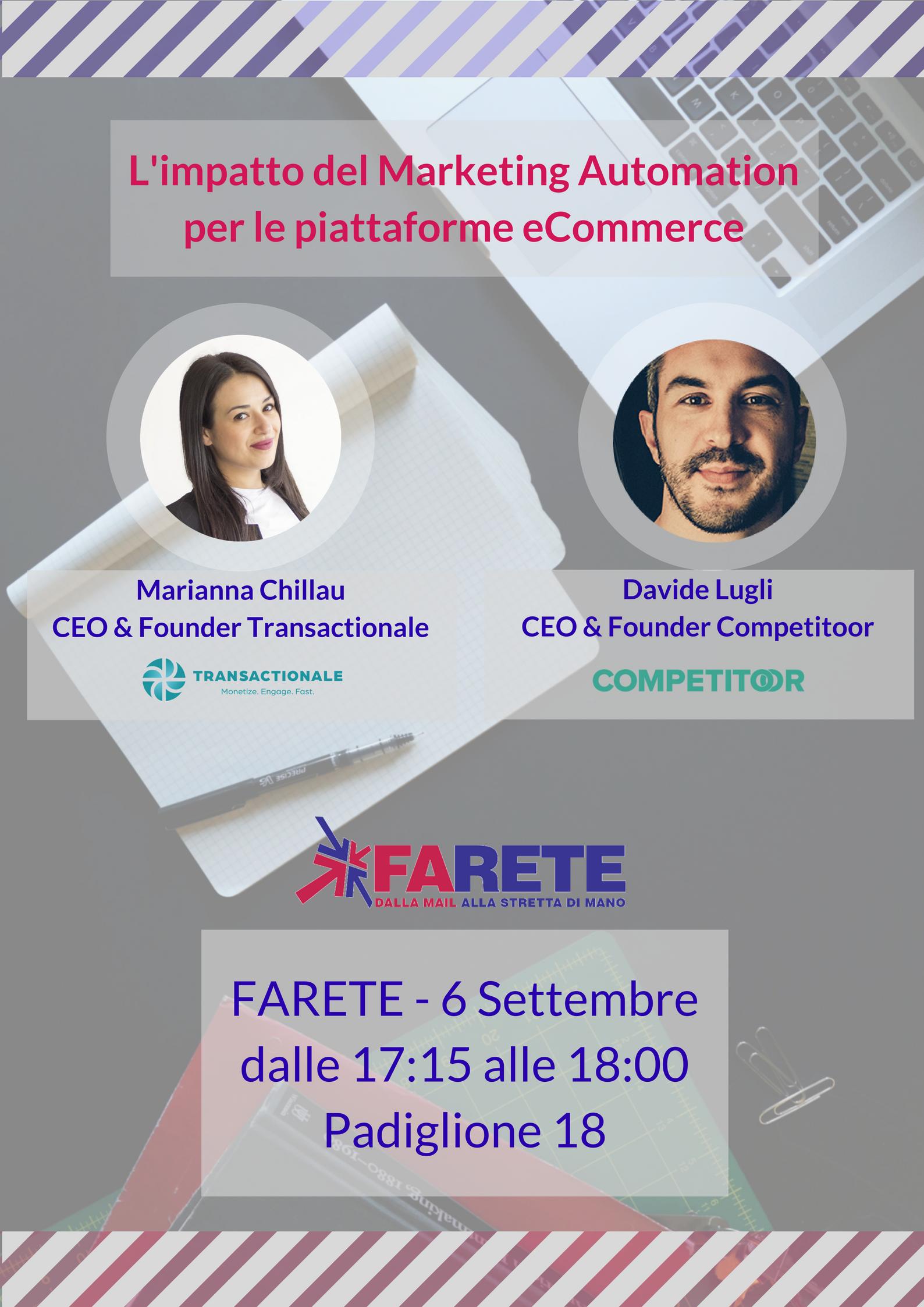 Marketing Automation ed e-commerce, un workshop a FARETE 2017