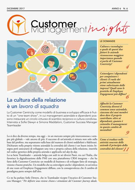 Customer Centricity ed Employee Engagement – CMI anno 6 n. 6