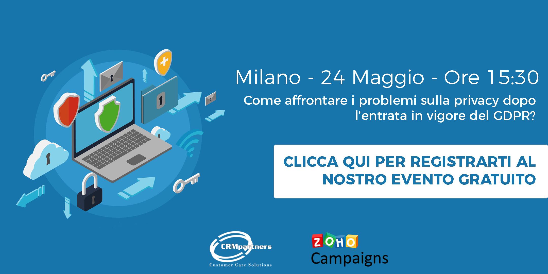 """24 maggio, meetup gratuito """"GDPR e campagne marketing"""""""