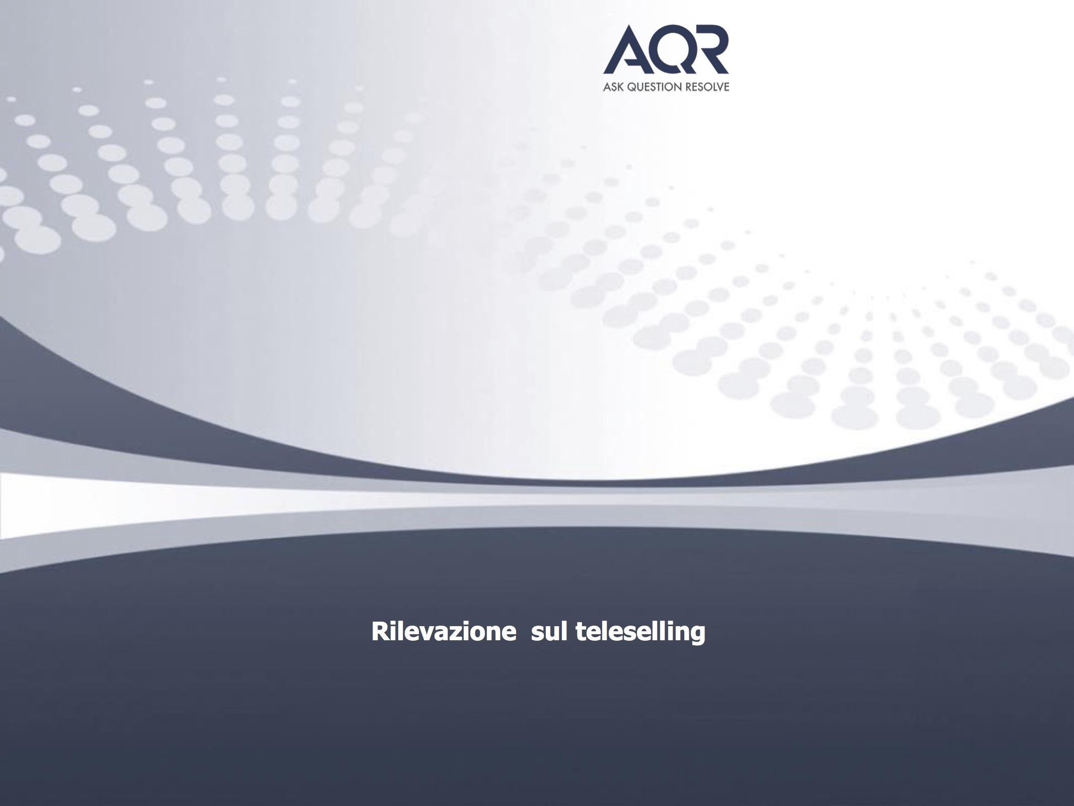 Italiani e teleselling, l'indagine del gruppo AQR