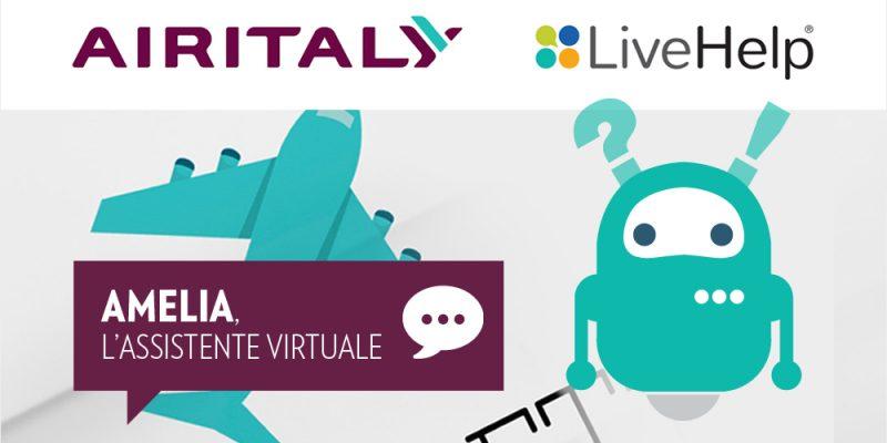Amelia, l'assistente virtuale per i passeggeri di Air Italy