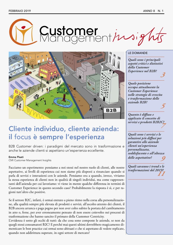 Customer Experience nel B2B – CMI anno 8 n. 1