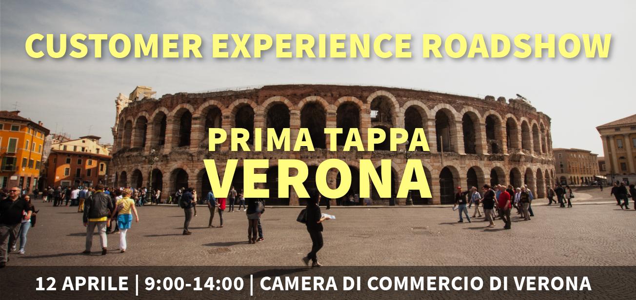 Customer Experience Roadshow, si parte da Verona il 12 aprile
