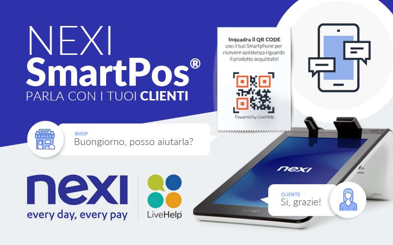 LiveHelp® integra la propria chat sugli SmartPOS® di Nexi