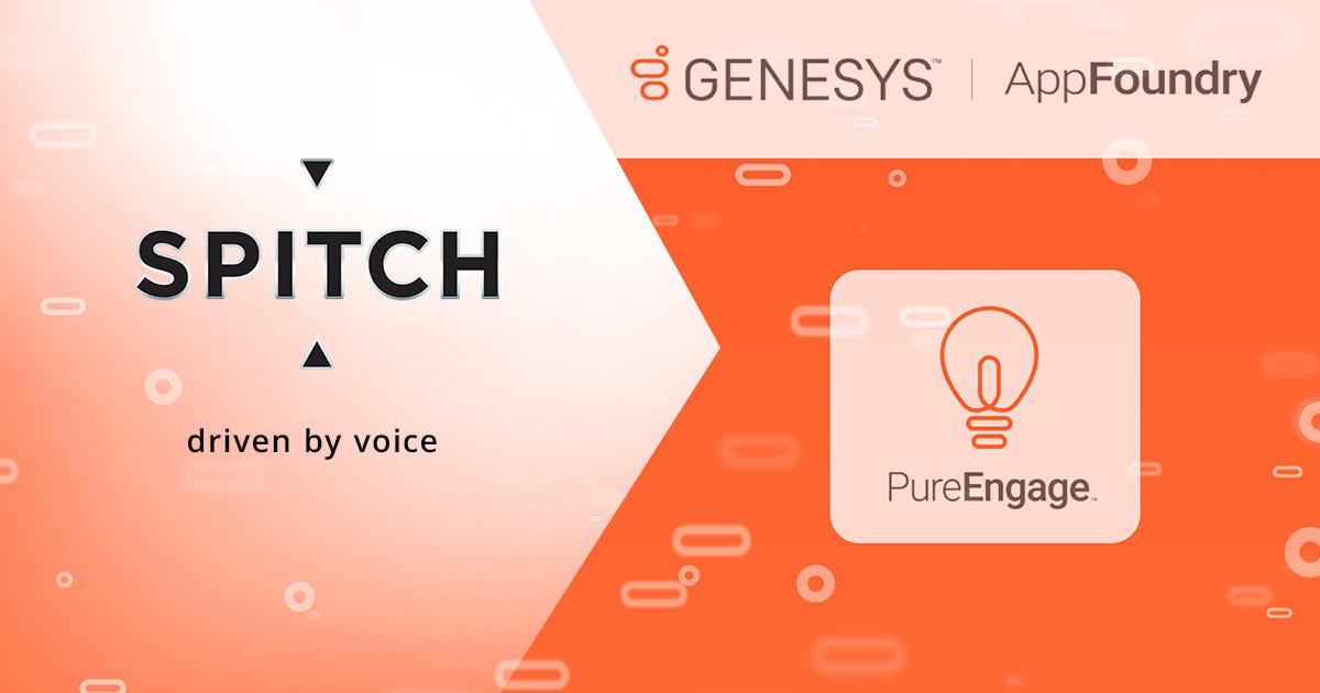 Le soluzioni di Spitch a disposizione di Genesys