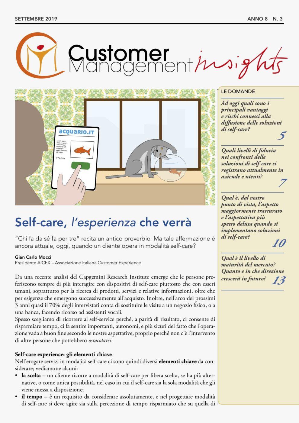 Self-care: gli strumenti per una CX ottimale – CMI anno 8 n. 3