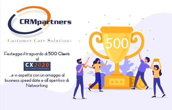 CRMpartners festeggia il traguardo di 500 clienti al CX2020