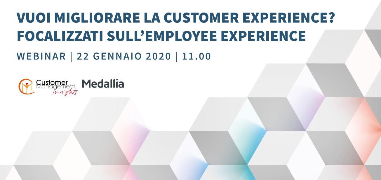 Vuoi migliorare la Customer Experience? Focalizzati sull'Employee Experience
