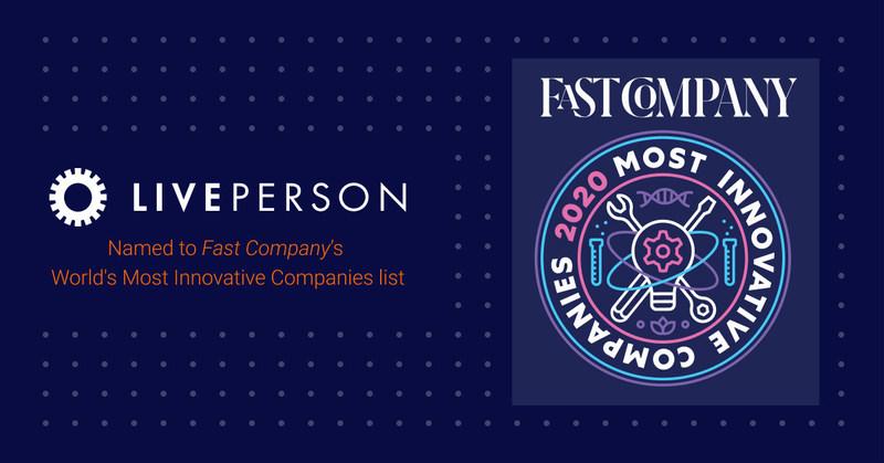 Liveperson nominata da Fast Company nella lista delle aziende più innovative