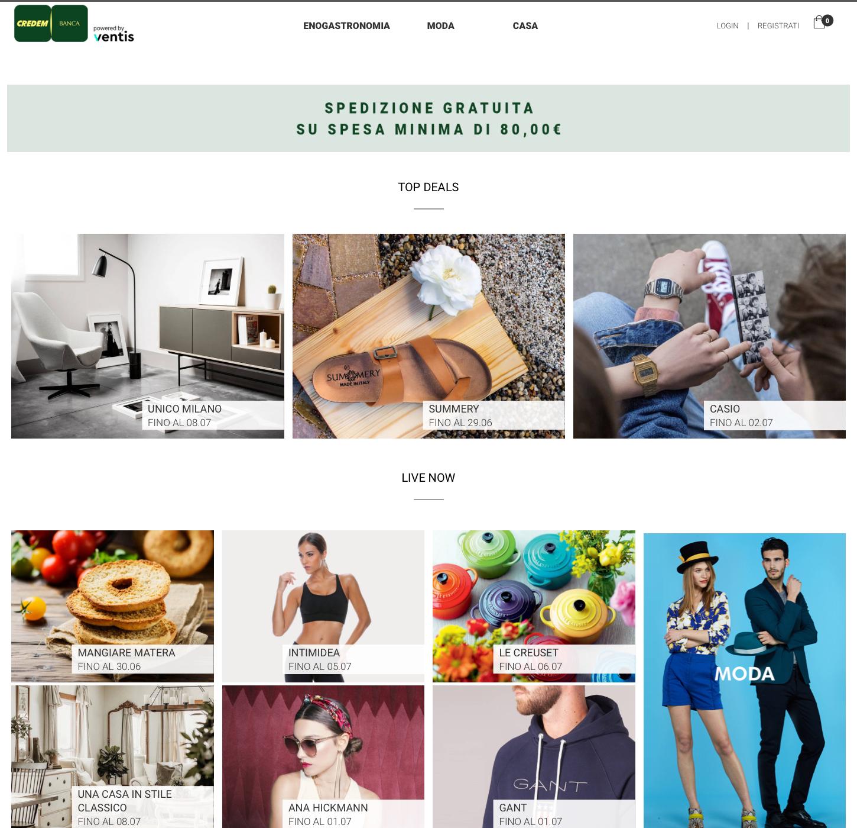 E-commerce che passione, nasce Credemshop