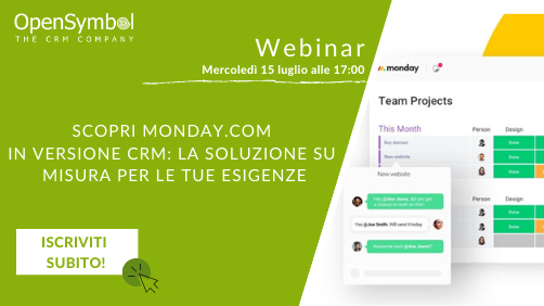 Marketing Automation e Monday nei due webinar di OpenSymbol